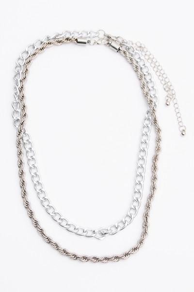 Hollow Chain Silver Necklace