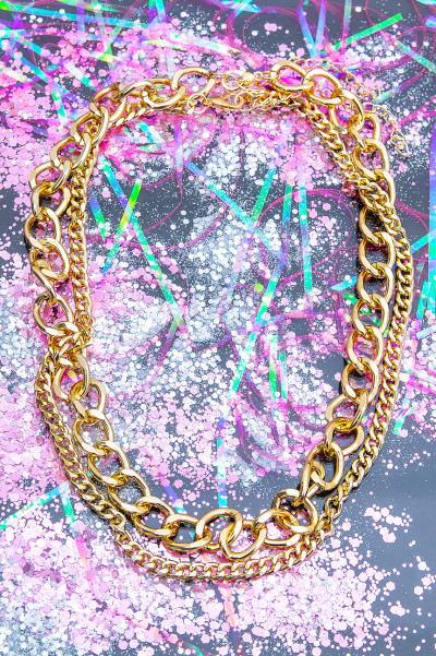 Can't Be Me Gold Necklace