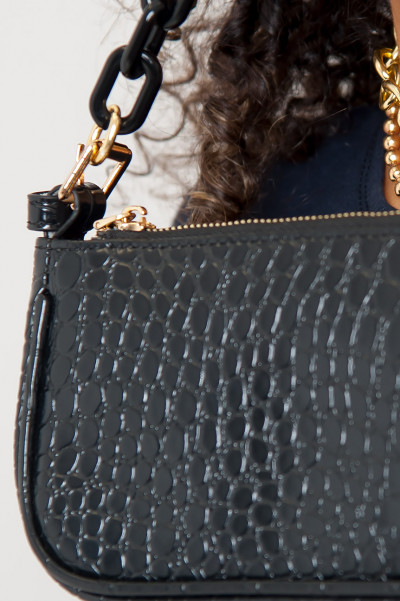 All About U Black Chain Bag
