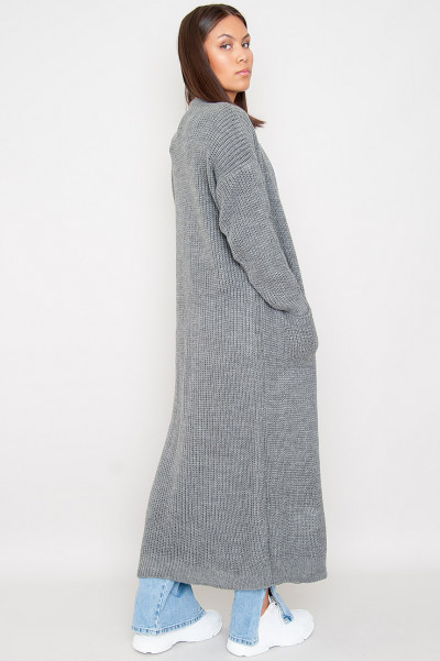 Can We Grey Knitted Cardigan