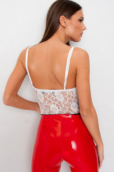 Lace Bodysuit -  Keeper White