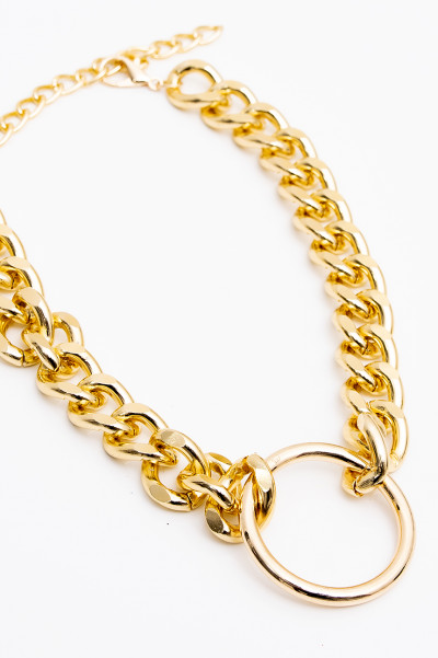 Thick Circle Gold Necklace