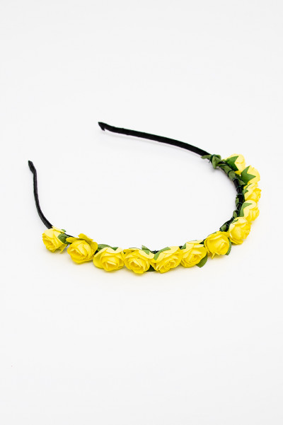 Flower Crown - Yellow Roses