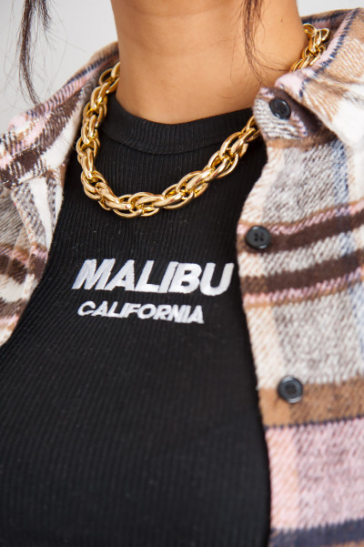 Got It Twisted Gold Necklace