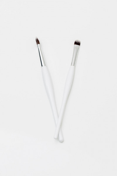 Two Makeup Brushes - Flat n Curvy