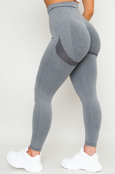 Seamless Scrunchie Back Tights - All Grey