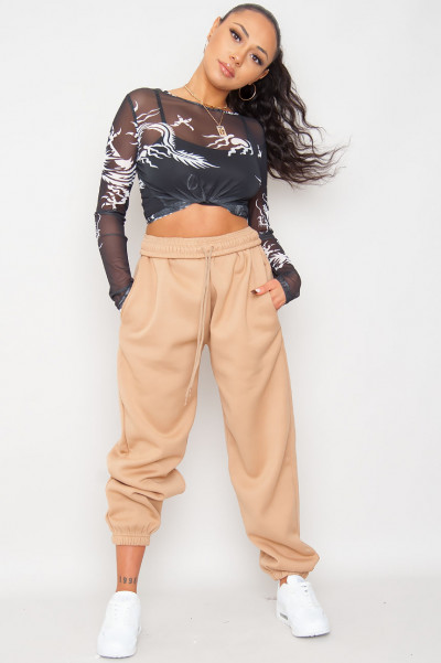 Bend The Rules Camel Oversized Joggers