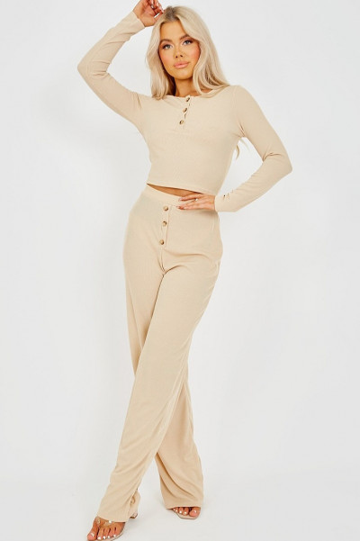 Whatever Works Ribbed Stone Co-Ord Set