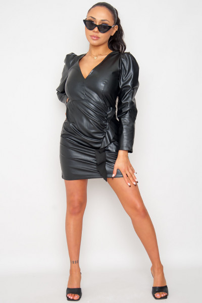 Come N Get It Faux Leather Dresses