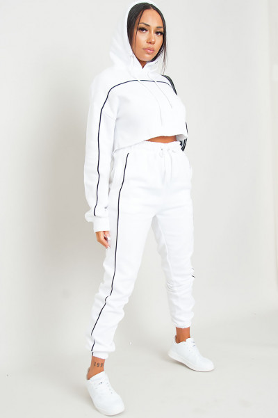 Greatness White Hoodie & Jogger Set