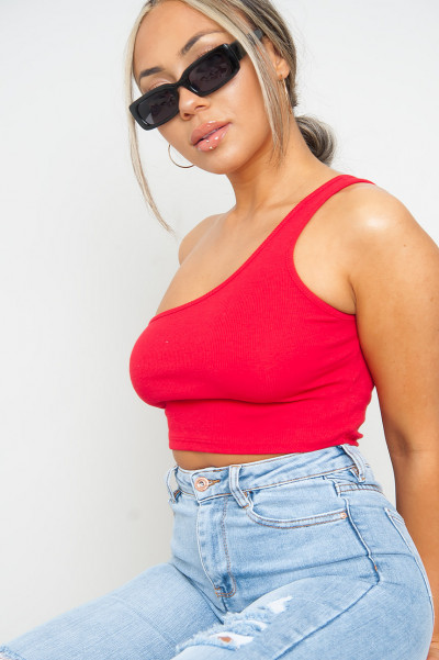 Make A Promise Red Crop Top