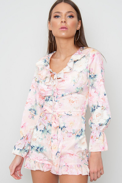 Floral Frill Playsuit - Amie